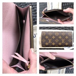 Authentic Louis Vuitton Emilie Wallet with Pink